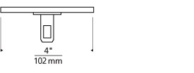 """MonoRail 4"""" Round Power Feed Canopy Low-Profile Single-Feed Line Art"""