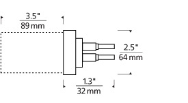 "MonoRail 2"" Square Direct-End Power Feed Line Art"
