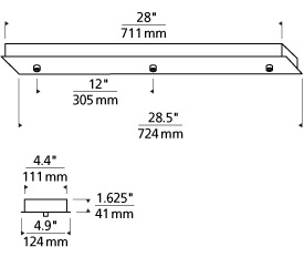 FreeJack Linear Canopy 3-port LED Line Art
