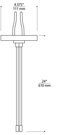 "Kable Lite 4"" Round Power Feed Canopy Single-Feed Line Art"
